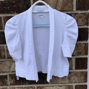 Calvin Klein short sleeve white cardigan